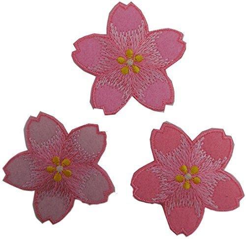 ヤナギプランニングスタジオ 刺繍ワッペン 【さくら】3色 [アイロン接着フィルム付き] EMBROIDERY PATCH 日本製,手作り,お守り,