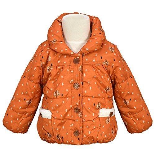 アスナロ(ジャンパー・コート) ジャンパー ベビー 女の子 中綿 ジャケット 裏フリース バルーン使い90 オレンジ,キッズ,ジャンパー,ブルゾン