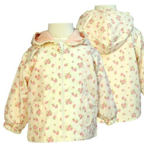 ジャンパー ベビー 女の子 ジャケット 子供 花柄ベージュ 90,キッズ,ジャンパー,ブルゾン
