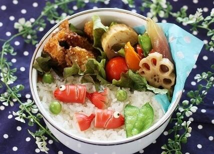 赤ウィンナの金魚,お弁当,作り方,