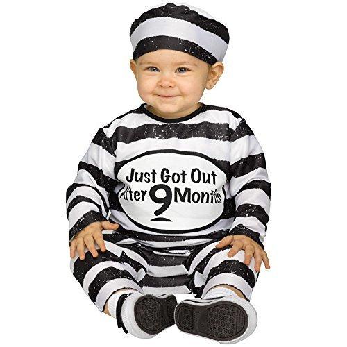 囚人服 ベビー用 S,赤ちゃん,ハロウィン,