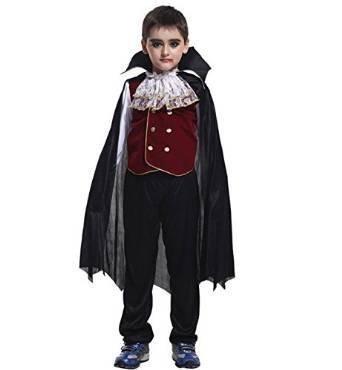 【ELEEJE】ハロウィン 子ども用 コスプレ ドラキュラ & 吸血鬼の牙 (XL(130-140CM)),ハロウィン,仮装,男の子