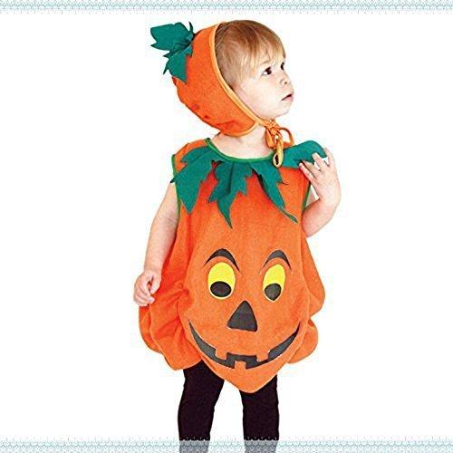 (レブール)ハロウィン 衣装 子供 かぼちゃ ベビー ジャックランタン 女の子 男の子 子供用 仮装 ダンス衣装 (M(100~120cm)),ハロウィン,仮装,男の子