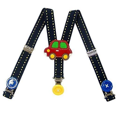 (ミキハウス)MIKIHOUSE くるまサスペンダー L(100-120cm) 紺(03),子ども,サスペンダー,