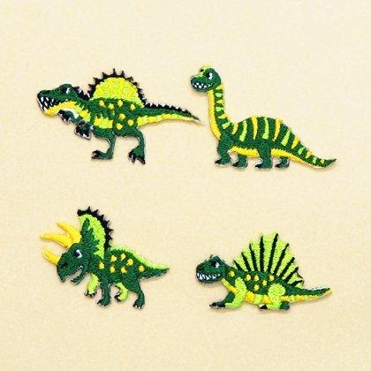 アイロン刺繍ワッペン 中生代の人気恐竜セット 4個セット N6640900,手作り,お守り,