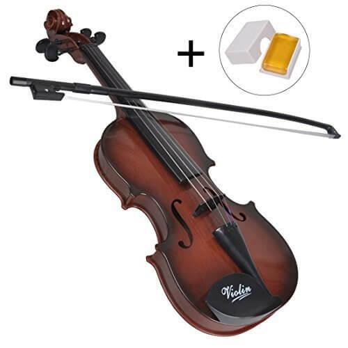 Herasa キッズ バイオリンおもちゃ 子供 楽器玩具 知育玩具 バイオリン 誕生日プレゼント 松脂付き,バイオリン,おもちゃ,