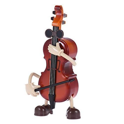 ammoon 機械 ミュージカルオルゴール 音楽ボックス アリスのため 子供 リズム 知育玩具 装飾 メロディー 贈り物 ギフト バイオリン形,バイオリン,おもちゃ,