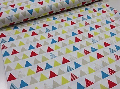 三角フラッグ オフ オックス生地  |北欧風|生地|布地|綿|コットン|,幼稚園,バッグ,手作り