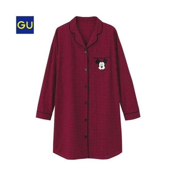 ラウンジシャツワンピース,GU,パジャマ,人気