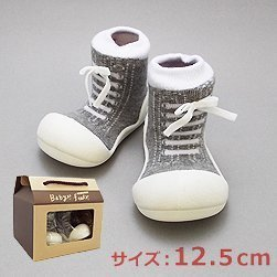 ベビーフィート ベビーシューズ スニーカー baby feet (12.5cm, スニーカー グレー(02)),ベビー,ルームシューズ,