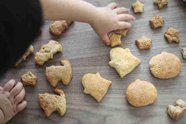 子どもと一緒につくる、ダイソーのハロウィンのクッキー型で作るクッキー,ダイソー,ハロウィングッズ,
