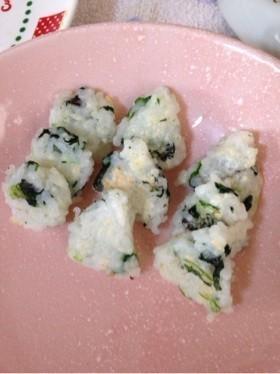 離乳食後期*小松菜と海苔のミニ焼おにぎり,生後9ヶ月,離乳食,