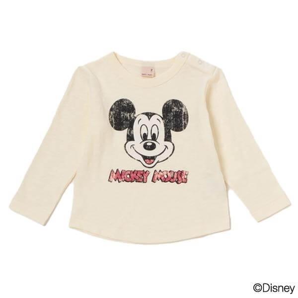 MICKEY長袖Tシャツ,子供服,petit main,
