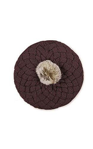 MIOIM ニット帽 キッズ ニットキャップ ベビー パイナップル風 ベレー帽 フェイク ファー ポンポン付き 男の子 女の子 帽子,ベビー,ベレー帽,おすすめ