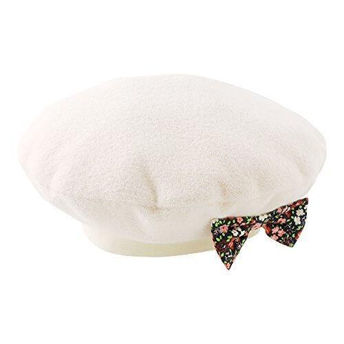 (チャックル) chuckle *スウィートガール*リボン付きベレー帽 アイボリー 48-50cm P9279-50-11,ベビー,ベレー帽,おすすめ