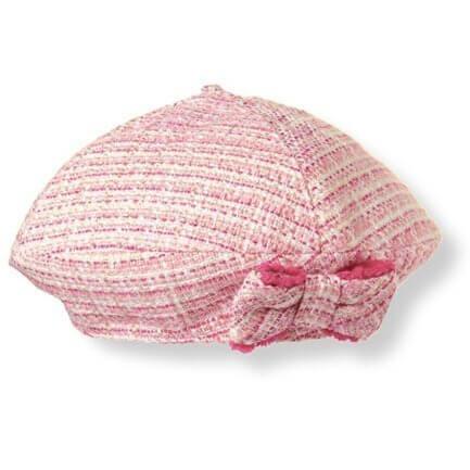 (ジャニーアンドジャック)JANIE AND JACK りぼん付 ツイードベレー帽 ピンク 65-75cm 【並行輸入品】,ベビー,ベレー帽,おすすめ