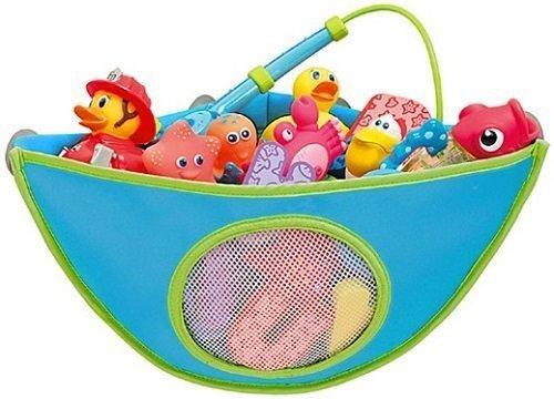 MAMENCHI お風呂用トイケース おもちゃ収納 ブルー,収納便利グッズ,おもちゃ,お風呂