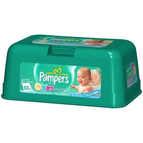 パンパース ふわふわシート 本体63P ×2セット,おしりふき,おすすめ,赤ちゃん