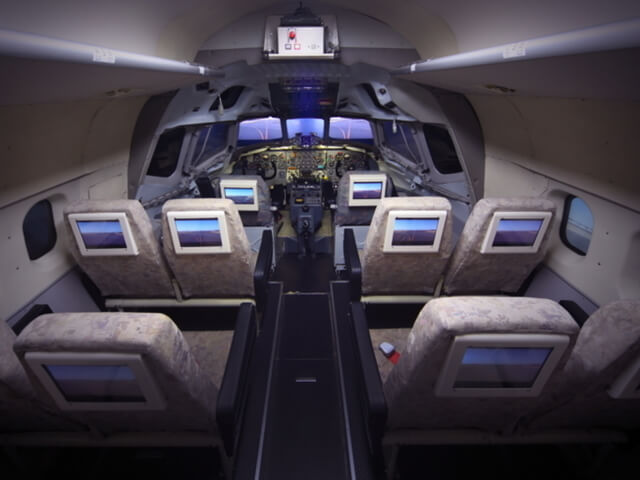 DC-8シミュレーター内部,航空科学博物館,