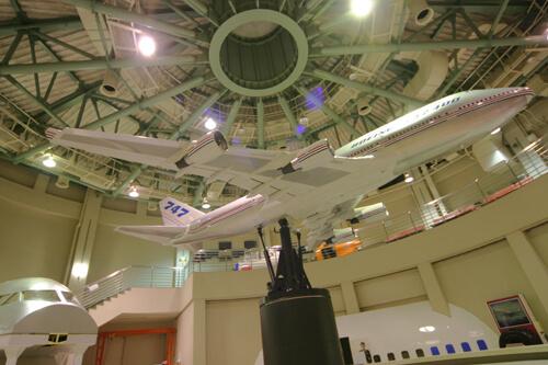 ボーイング747-400大型模型,航空科学博物館,