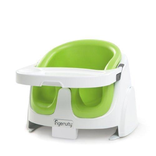ingenuity インジェニュイティ Baby Base 2-in-1 ベビーベース ベビーソファ ライム 4ヶ月~ (60385) by Kids II,離乳食,椅子,
