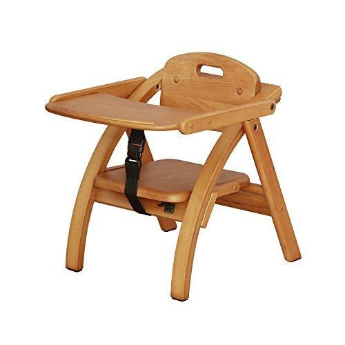 大和屋 アーチ木製ローチェア N LB(ライトブラウン) ベビーチェア 木製 6カ月,離乳食,椅子,