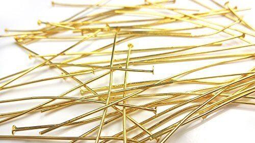 【HARU雑貨】ゴールド Tピン 約30本/金/ハンドメイド アクセサリーパーツ (70mm),ハンドメイド,ピアス,
