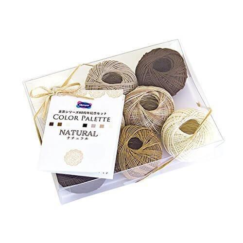 オリムパス製絲 レース糸セット カラーパレット ナチュラル ナチュラル,ハンドメイド,ピアス,