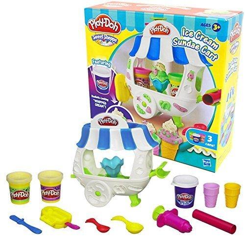 [プレイ・ドー]Play-Doh Ice Cream Sundae Cart アイスクリーム サンデー カート 小麦 ねんど 粘土 おもちゃ セット,プレイ・ドー,