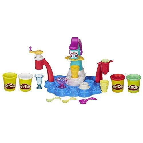ハスブロ こむぎねんど プレイ・ドー くるくるソフトクリームショップ 4色セット 【子ども 知育玩具 ねんど遊び】 Hasbro Play-Doh Ice Cream Shoppe Playset,プレイ・ドー,