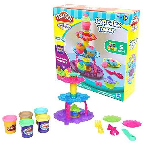 [プレイ・ドー]Play-Doh Cupcake Tower カップケーキ タワー 小麦 ねんど 粘土 おもちゃ セット,プレイ・ドー,