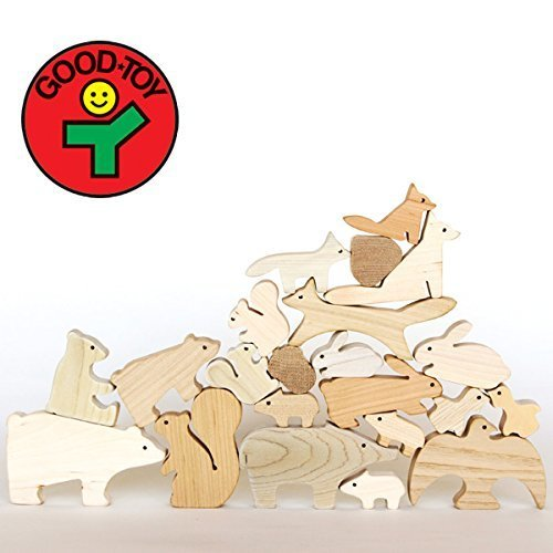 [Oak Village(オークヴィレッジ)]森のどうぶつみき(積み木)[キッズ遊具][グッド・トイ2013林野庁長官賞受賞][無垢材・無塗装],積み木,おすすめ,