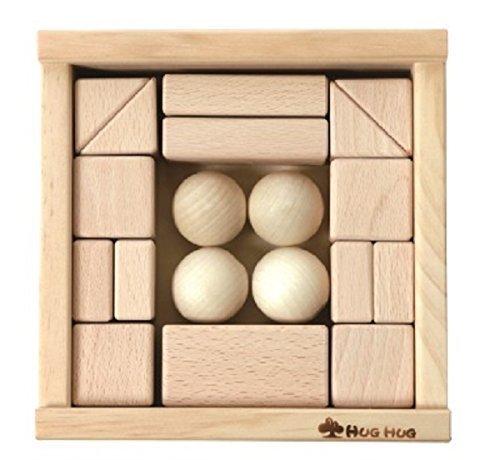 日本国内生産 初めての積木(4cm基尺)《手づくり木のおもちゃHUG HUG(はぐはぐ)》,積み木,おすすめ,