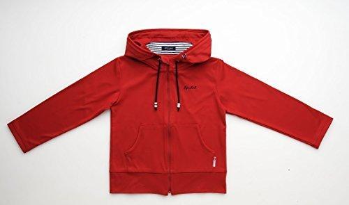 春から秋まで使える UVカット デイイリーパーカー (100, レッド),UVカット,子供服,