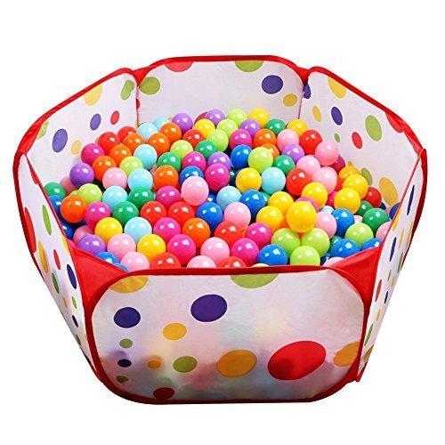 (イークスン) EocuSun 子供用  ボールハウス ボールプール ボール プレイハウス 子供部屋 おもちゃ 玩具 室内遊具 収納バッグ付き (レッド),知育玩具,1歳,