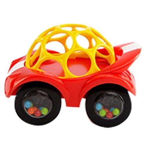 オーボール ラトル&ロール レッドイエロー,知育玩具,1歳,