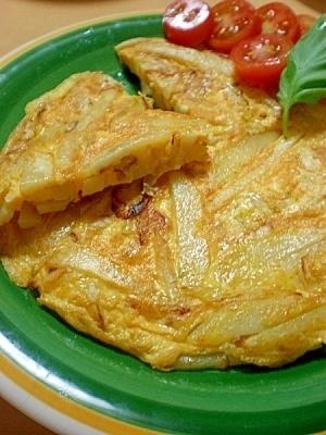 細切りポテトのイタリアンなスペイン風オムレツ♪,お弁当,じゃがいも,