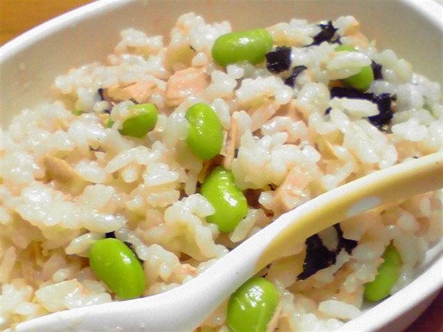 枝豆とツナのチャーハン離乳食後期〜,離乳食,枝豆,
