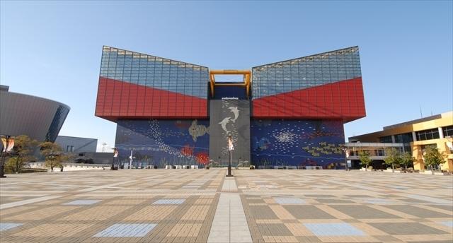 海遊館の外観,大阪,水族館,海遊館