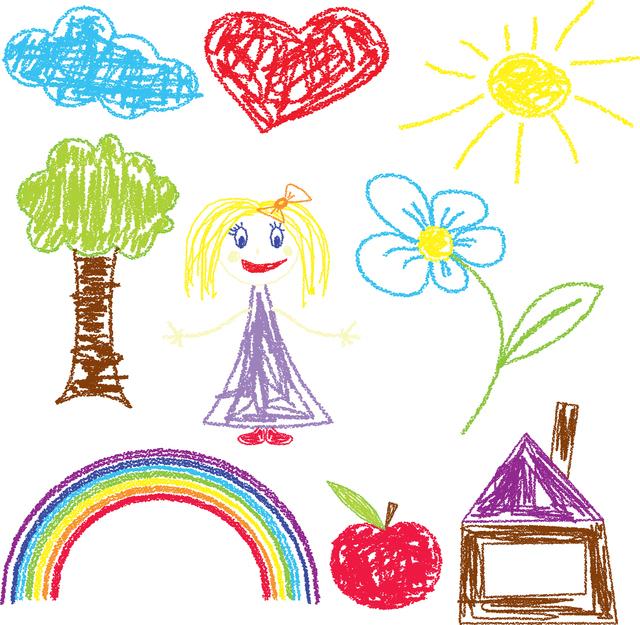 クレヨンで描いたイラスト,幼稚園,バザー,手作りおもちゃ