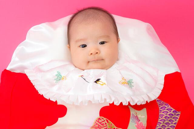 お宮参りの着物の赤ちゃん,赤ちゃん,着物,
