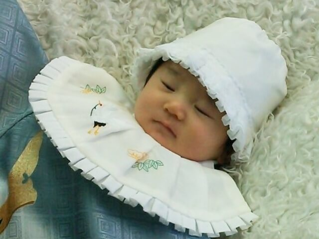 お宮参りの赤ちゃん,赤ちゃん,着物,