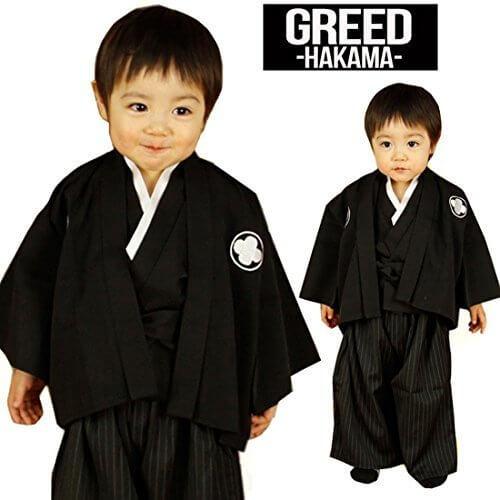(グリード) GREED 簡単 楽ちん ベビー はかま 袴 3点セット S(80cm~90cm)[CH-40]GK058,赤ちゃん,着物,