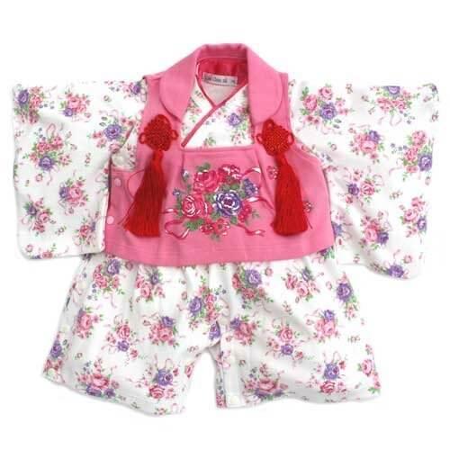 【七五三カバラ柄pinkバーオール】被布付きカバーオール (80cm),赤ちゃん,着物,