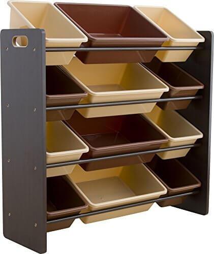 おもちゃ箱 ラック 4段 ブラウン THR-4BR,おもちゃ ,収納,アイデア