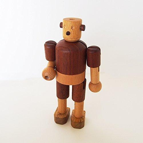 スプソリ 木のおもちゃ 木製ロボット 手足の関節も自由自在に動くロボット人形,赤ちゃん,おもちゃ,木