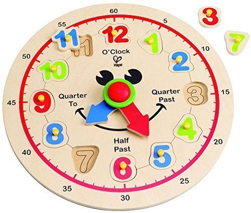 Hape(ハペ) ハッピーアワー クロック E1600,知育玩具,時計,