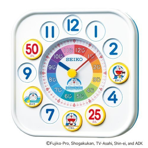 SEIKO CLOCK(セイコークロック) ドラえもん知育時計(白) CQ319W,知育玩具,時計,