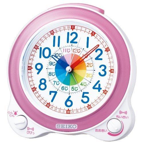 SEIKO CLOCK(セイコークロック) 知育目覚まし時計(薄ピンク) KR887P,知育玩具,時計,