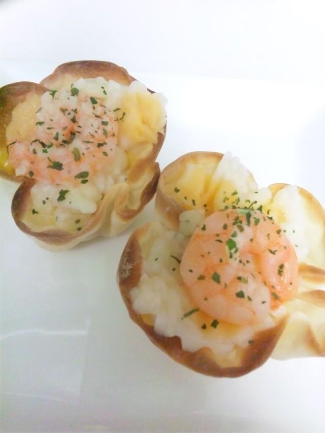 冷凍食品活用★餃子の皮カップのグラタン,お弁当,おかず,冷凍